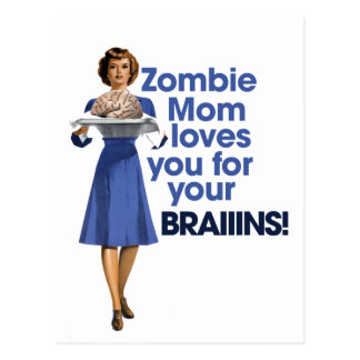 Zombie Mom Postcard