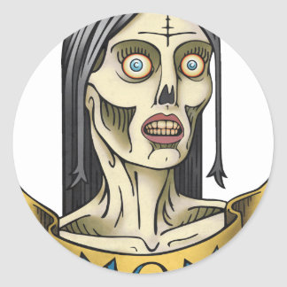 Zombie Mom Round Sticker