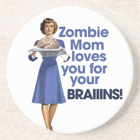 Zombie Mom Sandstone Coaster