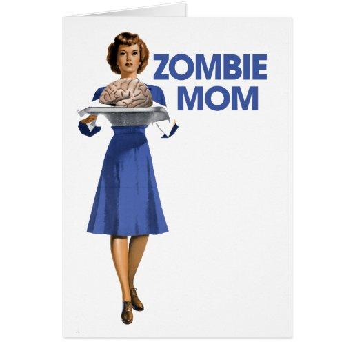 Zombie Mom Stationery Note Card