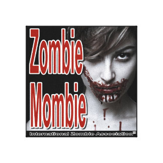 Zombie Mombie Stretched Canvas Prints
