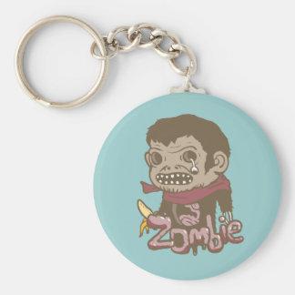 Zombie Monkey Basic Round Button Keychain