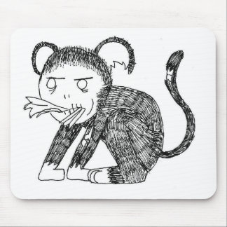 Zombie Monkey Hungry! Mouse Pad
