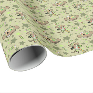 Zombie Monkey Wrapping Paper