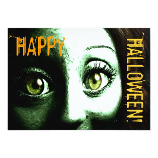 Zombie Monster Creature Halloween Party Card