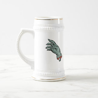 Zombie Monster Hand Drawing Beer Stein