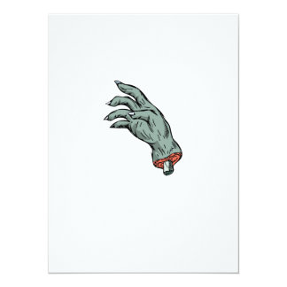 Zombie Monster Hand Drawing Card