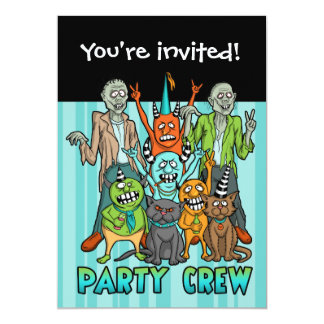 Zombie Monster Party Crew Card