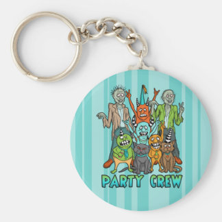 Zombie Monster Party Crew Key Chain