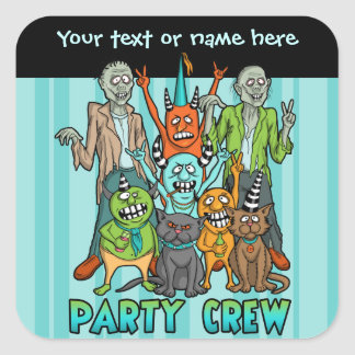 Zombie Monster Party Crew Sticker
