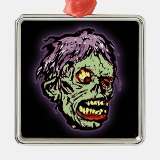 Zombie Monster (shock) Metal Ornament