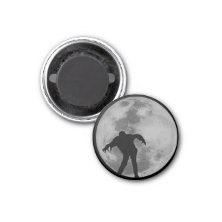Zombie Moon 1 Inch Round Magnet