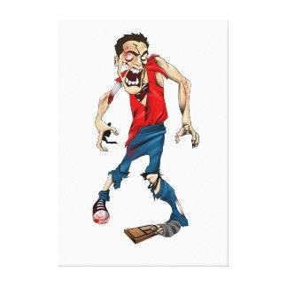 Zombie & Mouse Trap Canvas Print