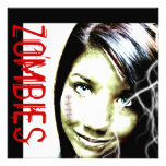 Zombie Movies Invite with cute Teen Zombie Girl