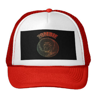 Zombie/Multi-Color Distressed Face Staring at you Trucker Hat