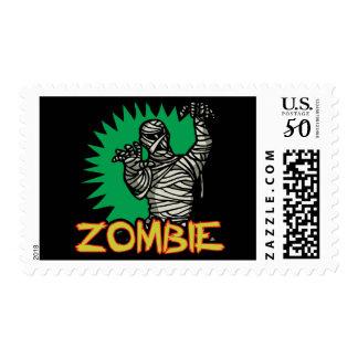 Zombie Mummy Postage Stamp