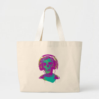 Zombie Music Large Tote Bag