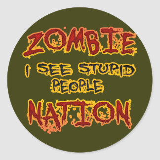 Zombie Nation Classic Round Sticker