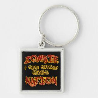 Zombie Nation - I See Stupid People Keychain