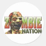 Zombie Nation Round Sticker
