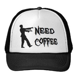 Zombie: Need Coffee Trucker Hat