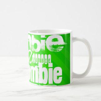 Zombie; Neon Green Stripes Classic White Coffee Mug