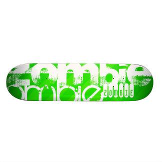 Zombie; Neon Green Stripes Skateboard