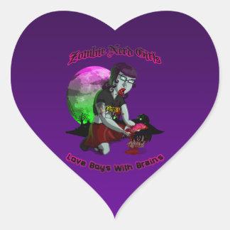 Zombie Nerd Girls: Heart Sticker