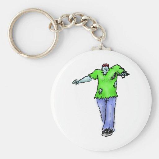 Zombie No Head Key Chains