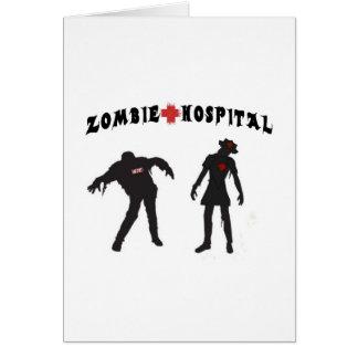 Zombie Nurse W/ Assistant Greeting Card