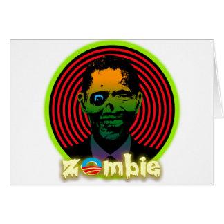 Zombie Obama 2012 Card
