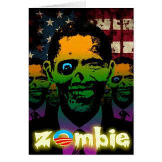 Zombie Obama Bloody Flag Card
