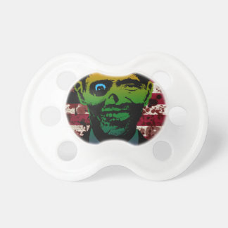 Zombie Obama Bloody Flag Pacifiers