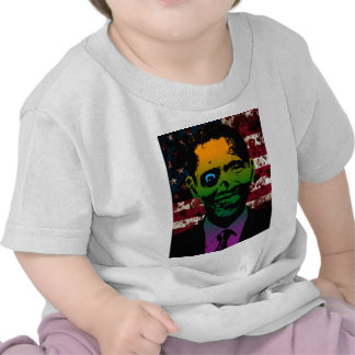 Zombie Obama Bloody Flag Tee Shirts