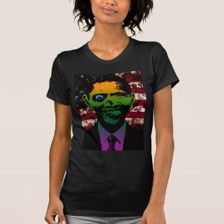 Zombie Obama Bloody Flag Tees