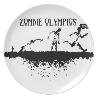 Zombie Olympics Plate