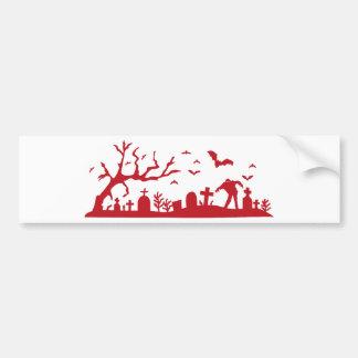 Zombie on cemetery bumper sticker