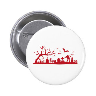 Zombie on cemetery buttons