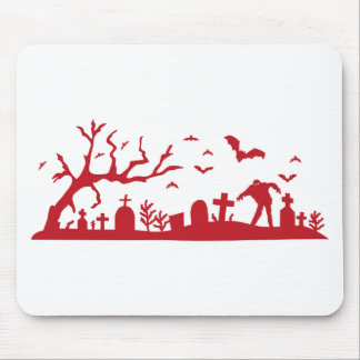 Zombie on cemetery mouse pad