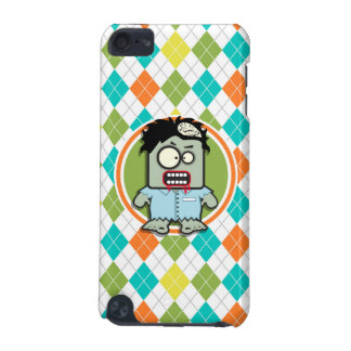Zombie on Colorful Argyle Pattern iPod Touch (5th Generation) Covers