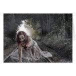 Zombie on the Tracks Halloween Card