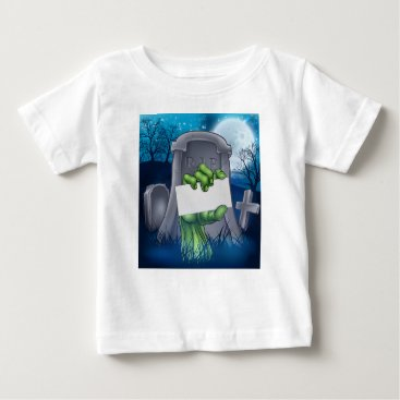 Halloween Themed Zombie or Halloween Monster Sign Baby T-Shirt