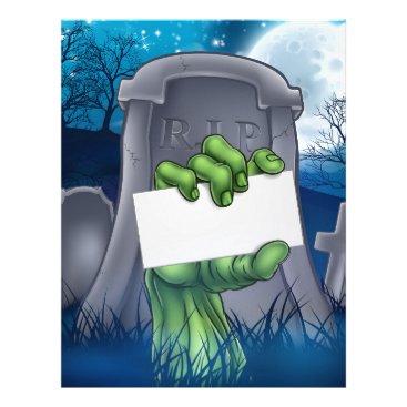 Halloween Themed Zombie or Halloween Monster Sign Letterhead