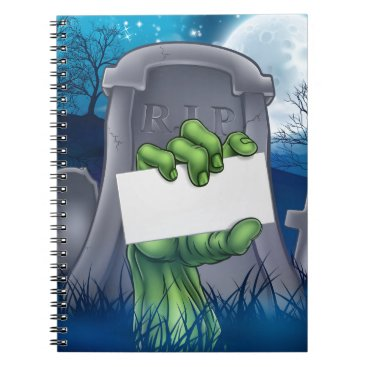 Halloween Themed Zombie or Halloween Monster Sign Notebook
