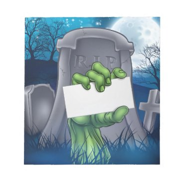 Halloween Themed Zombie or Halloween Monster Sign Notepad