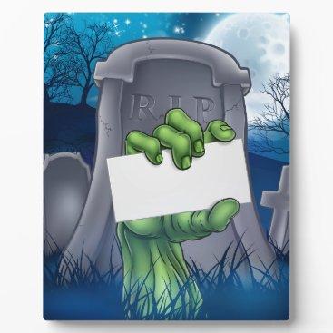 Halloween Themed Zombie or Halloween Monster Sign Plaque