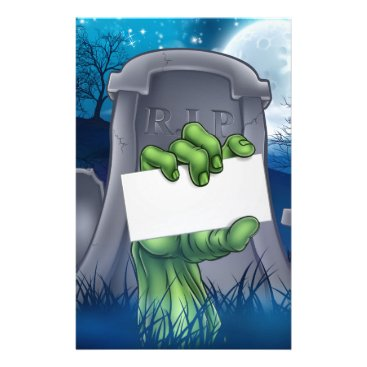 Halloween Themed Zombie or Halloween Monster Sign Stationery