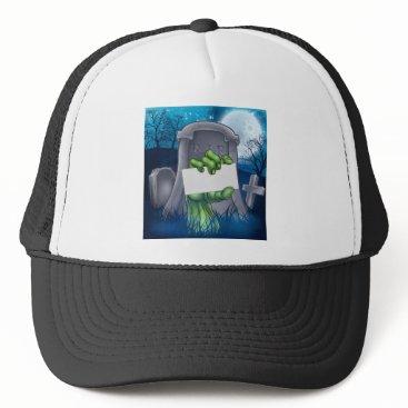 Halloween Themed Zombie or Halloween Monster Sign Trucker Hat