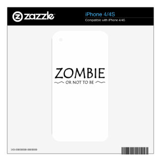 Zombie or not to be decals for iPhone 4