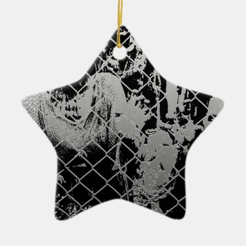 Zombie Double-Sided Star Ceramic Ornament